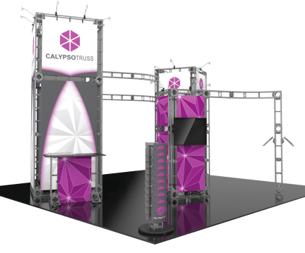 custom 20X20 trade show event booth display VA