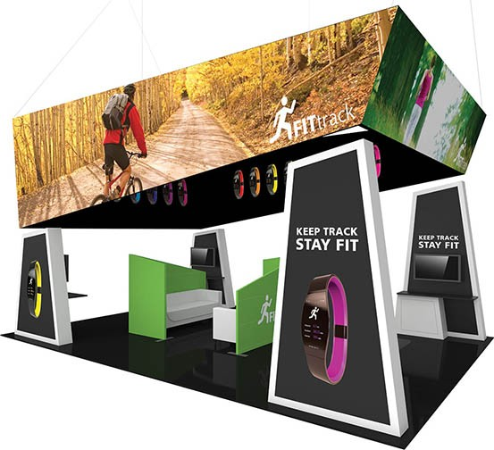custom 30ft trade show booth design