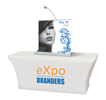 mini retractable table top banner 3x3