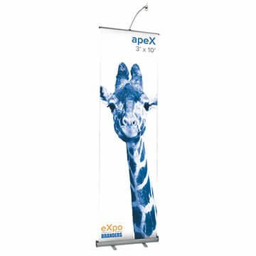 10ft custom pull up banner stand