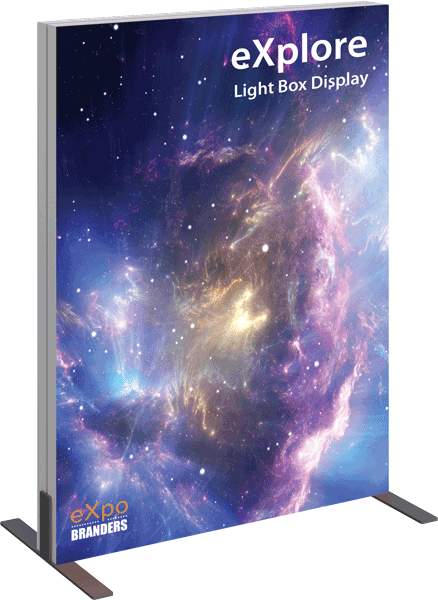 backlit table top mini booth banner display