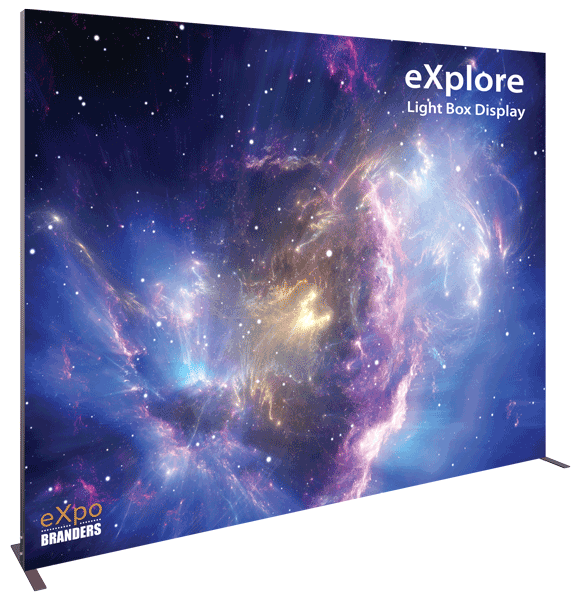 backlit backwall trade show display 10x8ft