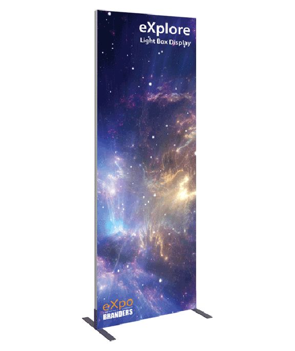 backlit banner stand trade show display 3x8ft