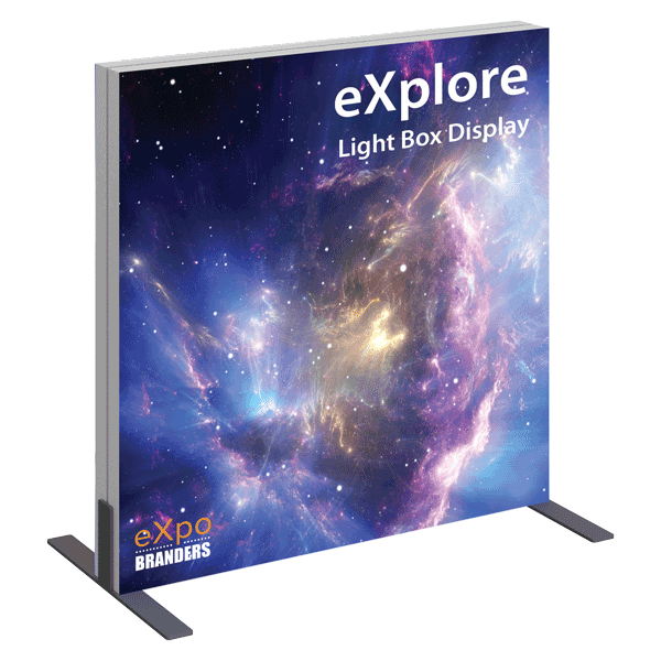 illuminated table top banner display