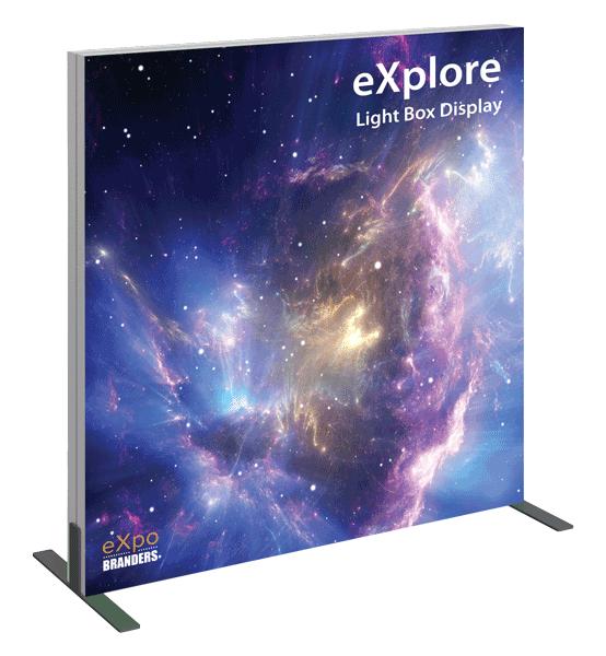 backlit table top mini trade show display