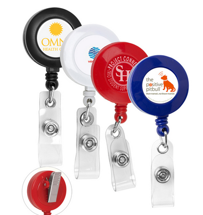 custom logo badge reel