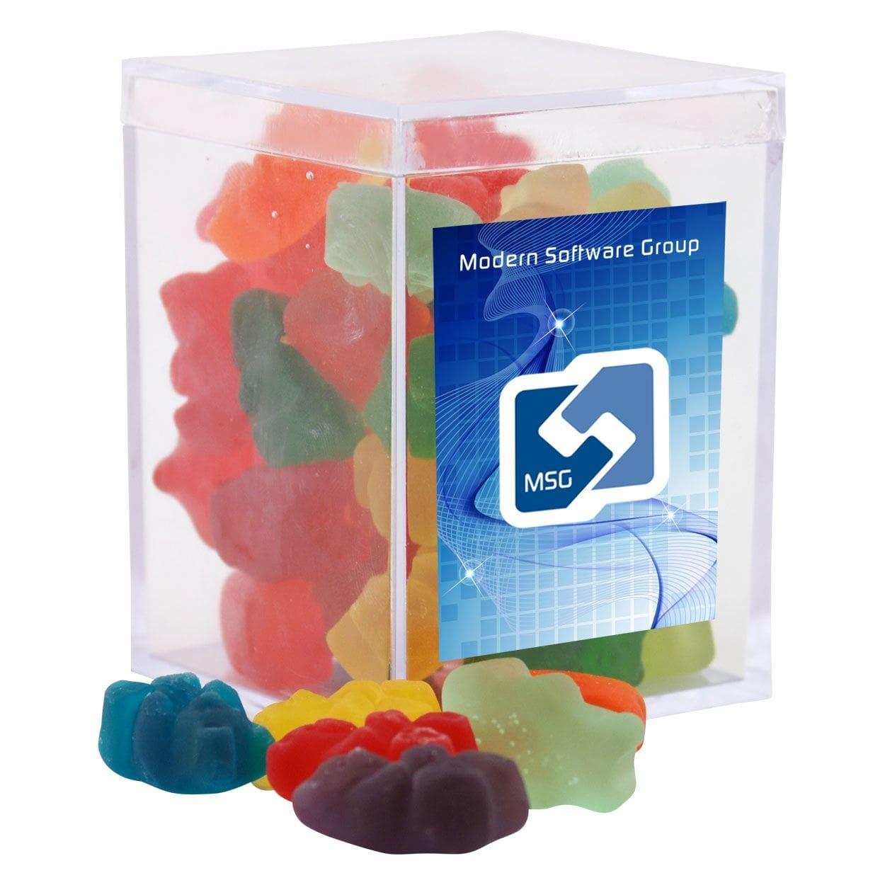 custom packaged acrylic box gummy bears