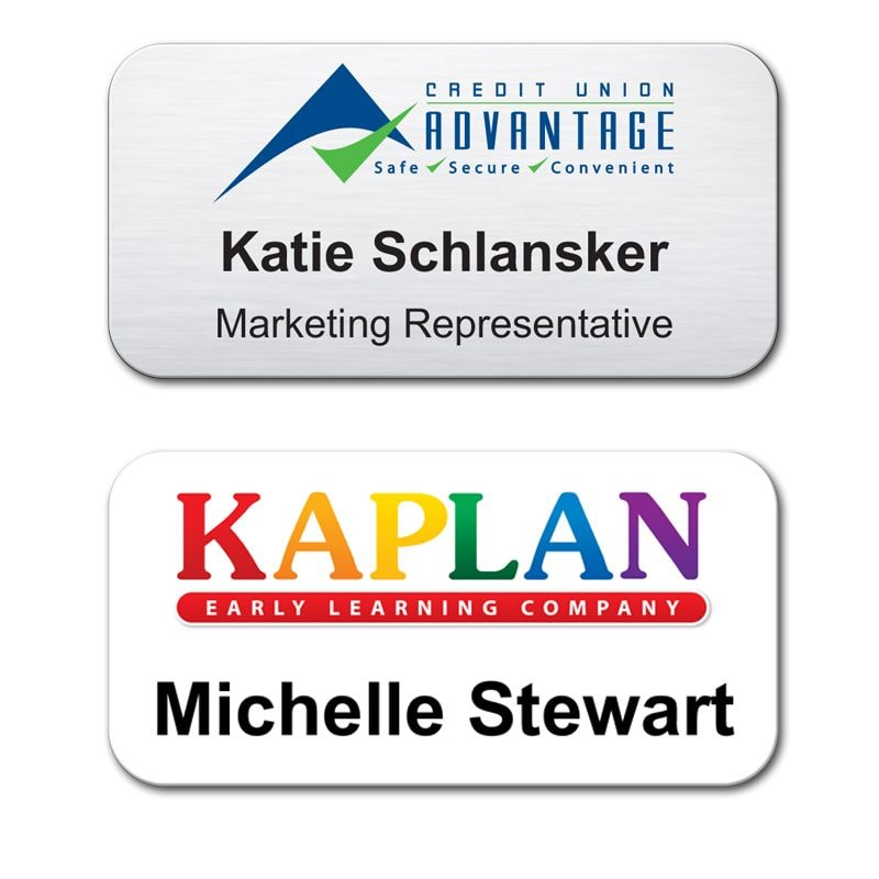 custom branded name badges