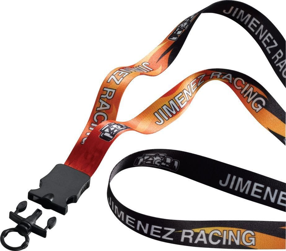 custom branded dye sublimated lanyard