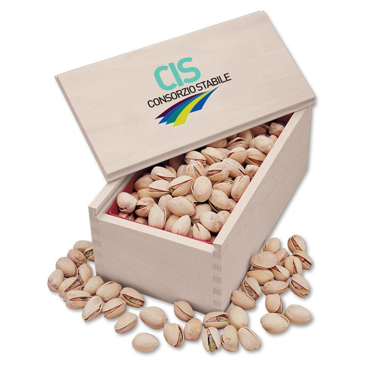 custom branded jumbo pistachios in collector box