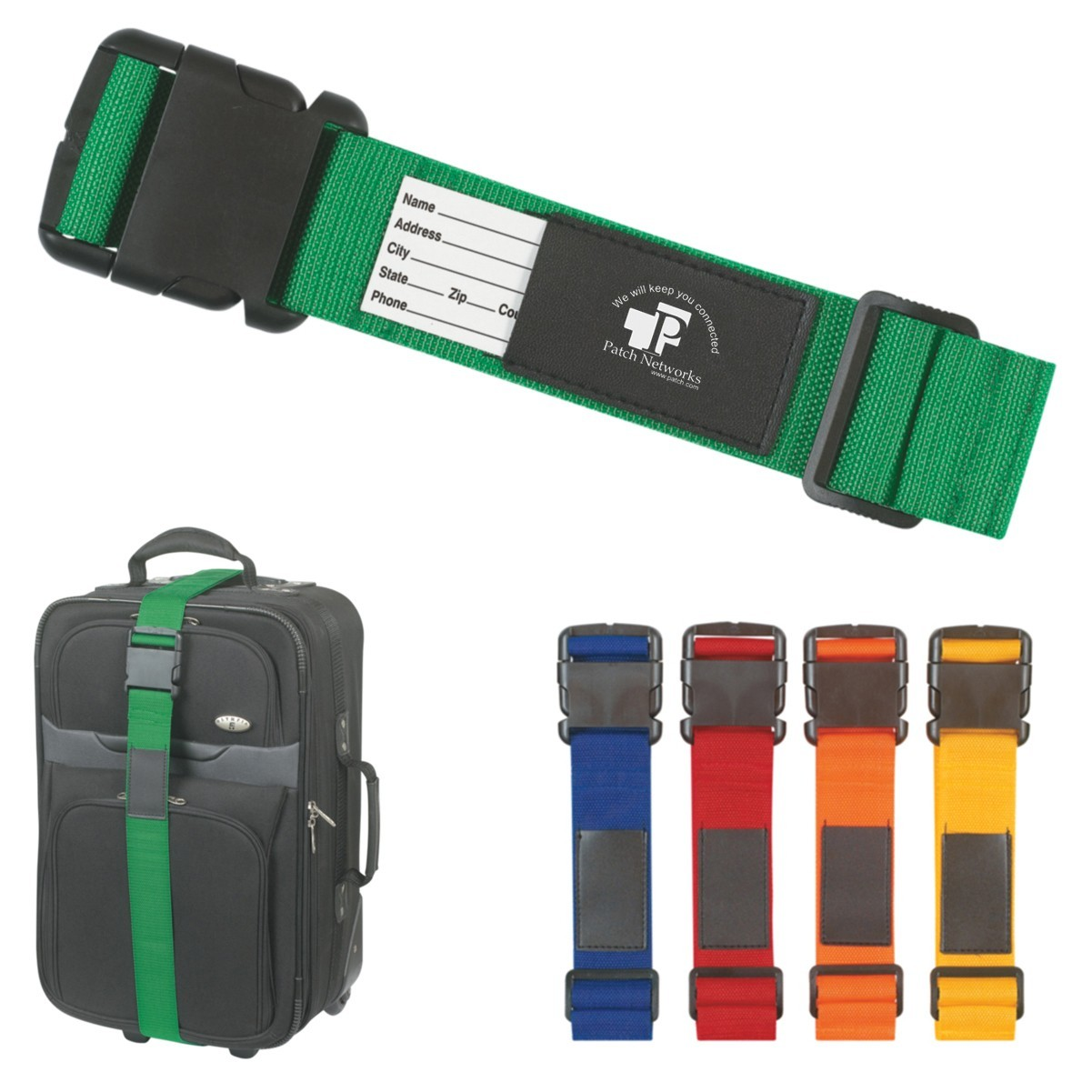 custom branded logo luggage strap