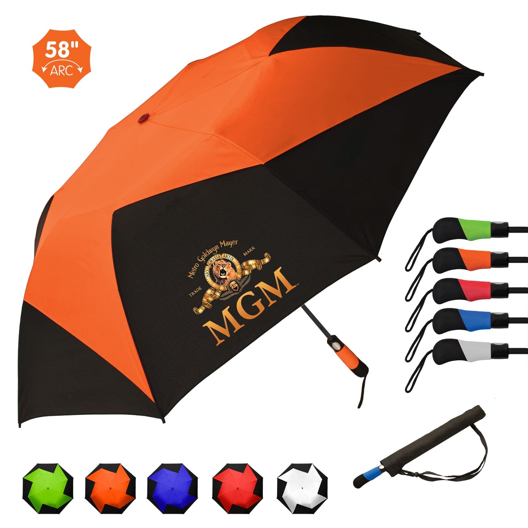 custom branded vented umbrella