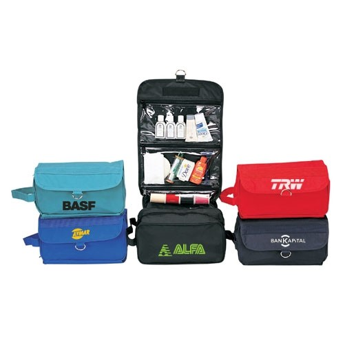 custom printed hanging toiletry bag with logo wholesale