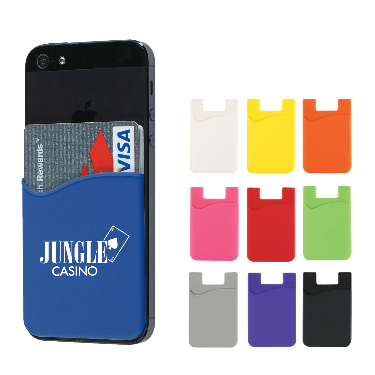 phone wallets- inexpensive- giveaway- local- tradeshow- eXpobranders