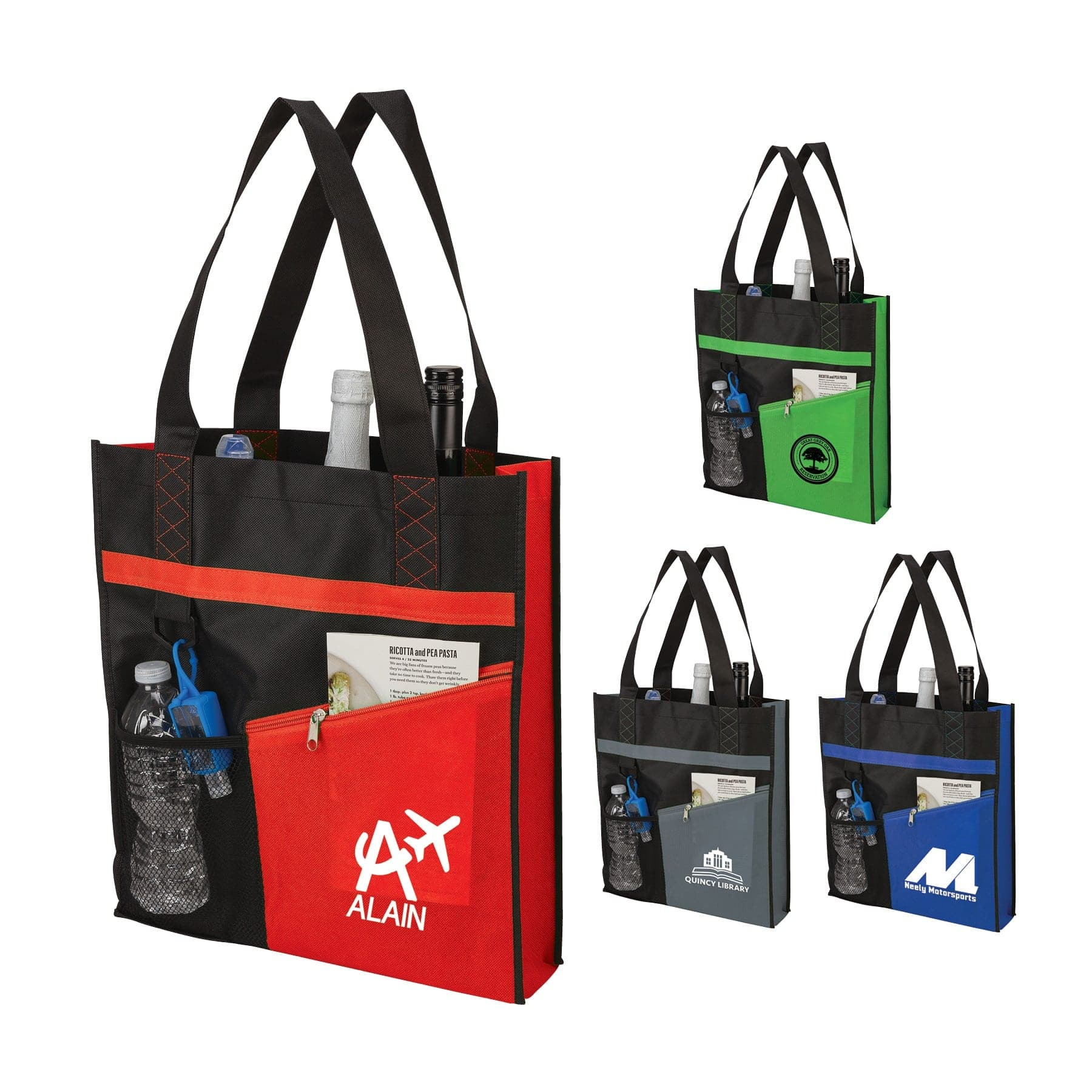 custom printed conference tote bag with logo