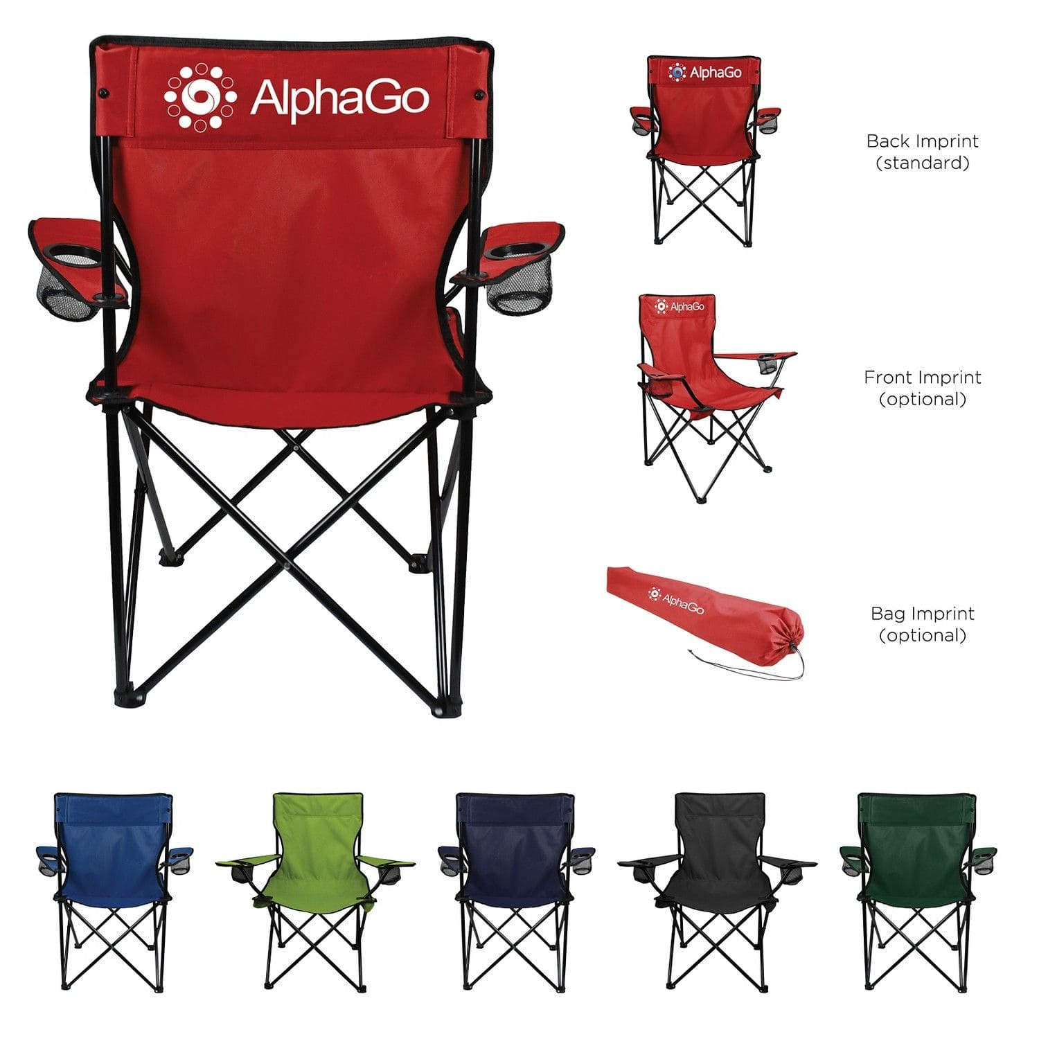 custom printed folding captain chair