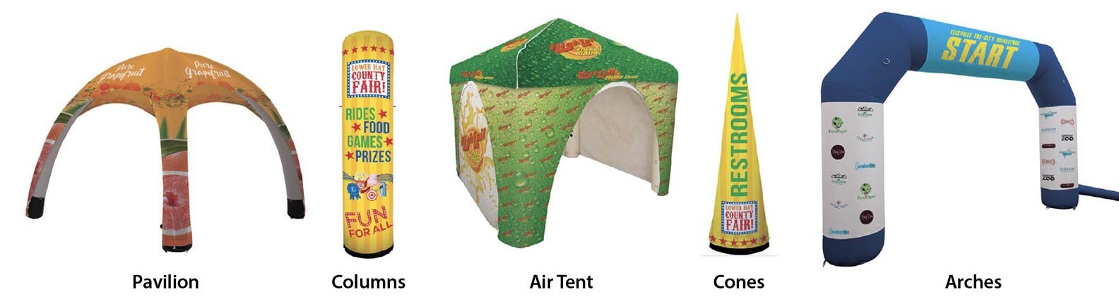 portable inflatable event tent and sign