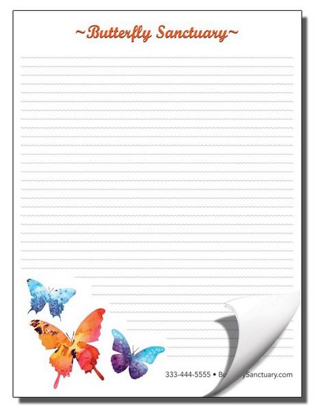 custom printed notepad