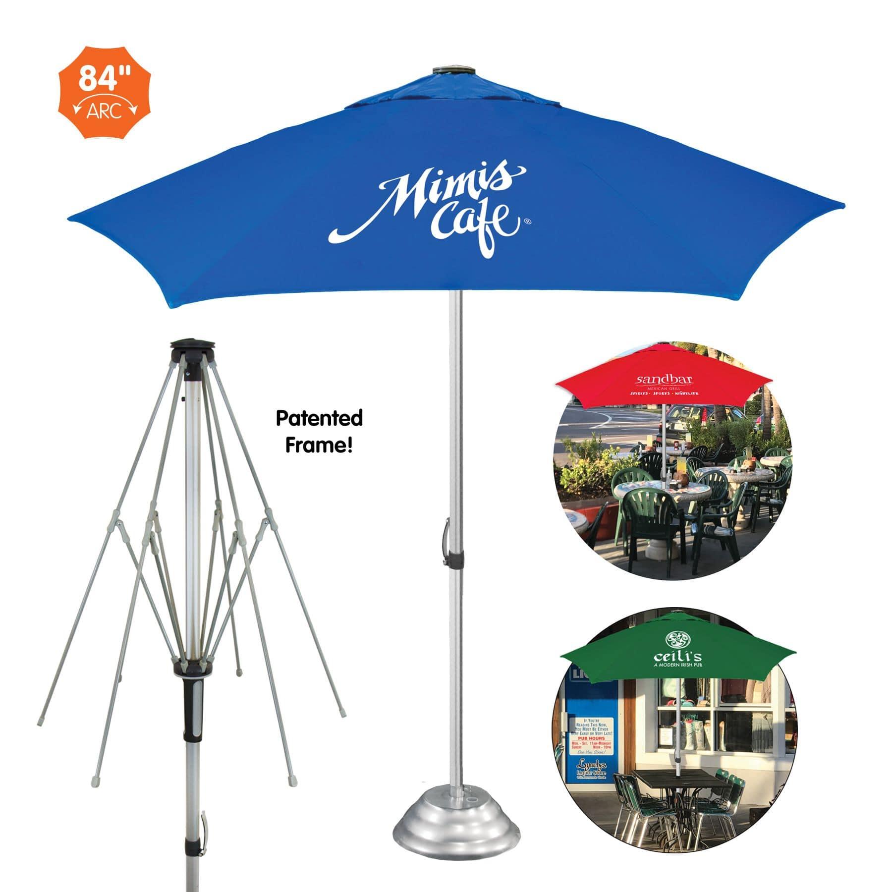 custom printed vented cafe market umbrella