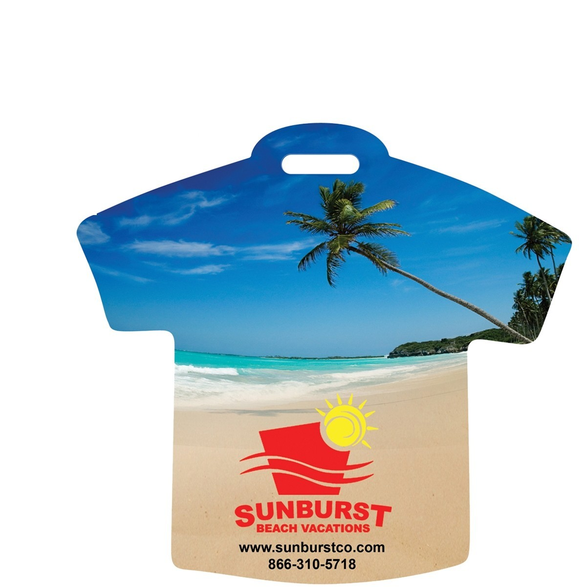 custom printed t-shirt luggage tag
