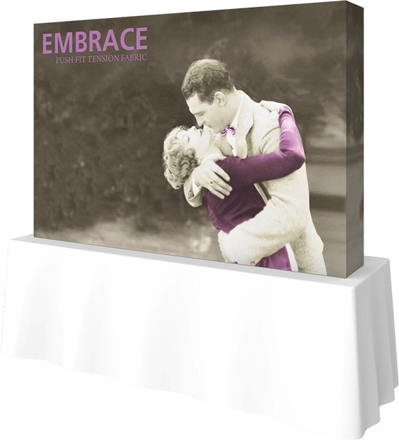Embrace- 8'- table top- table top display- display- trade show- local- VA