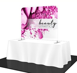fabric table top banner display