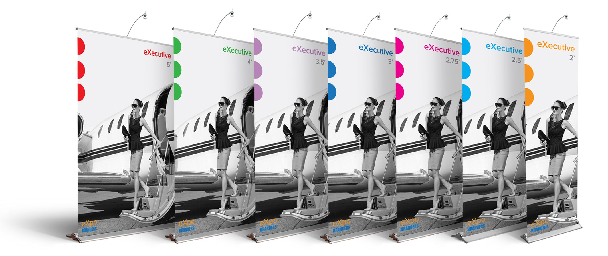 executive pull up banner stand family
