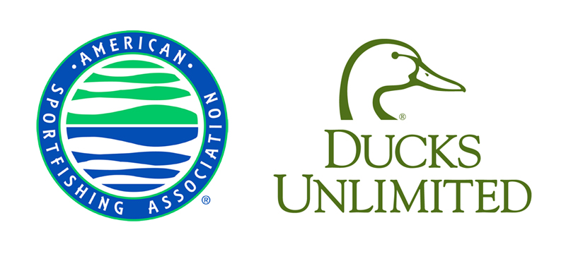 ducks unlimited and american sportsfishing association logos