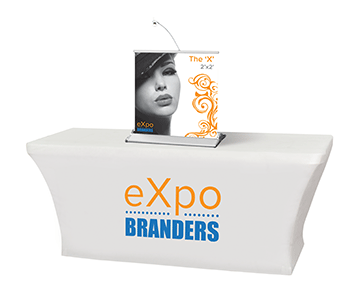 6ft stretched trade show table throw