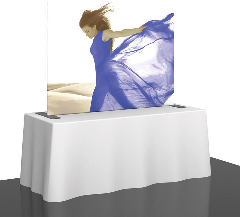 straight fabric table top display