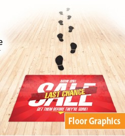 custom adhesive floor graphic DC NYC