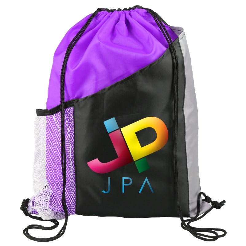 custom printed full color drawstring bag