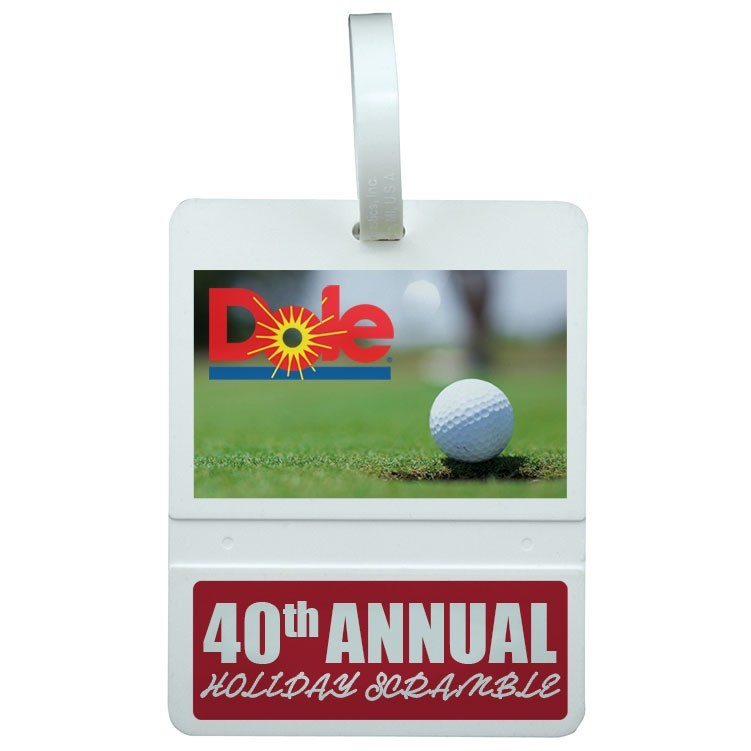 full color printed golf tag