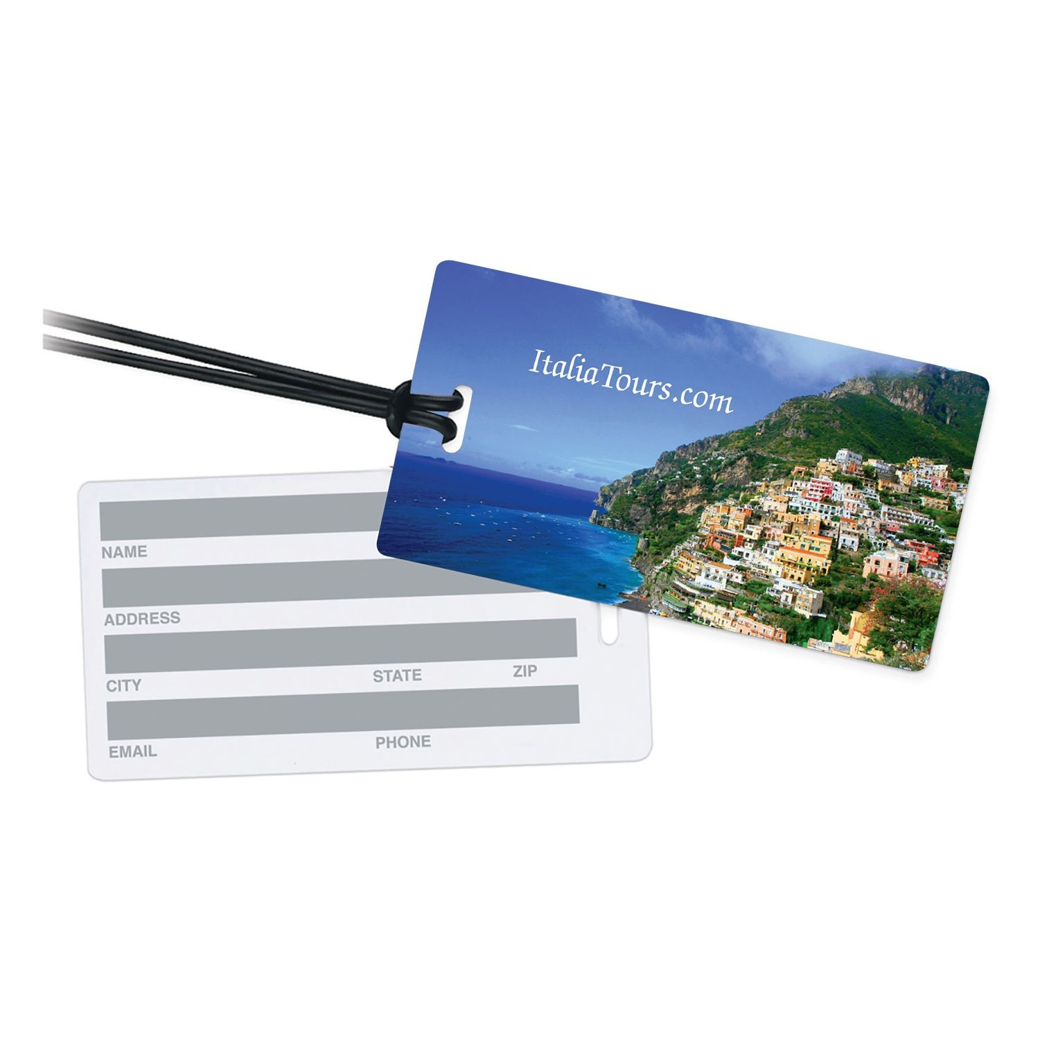 full color printed luggage tag