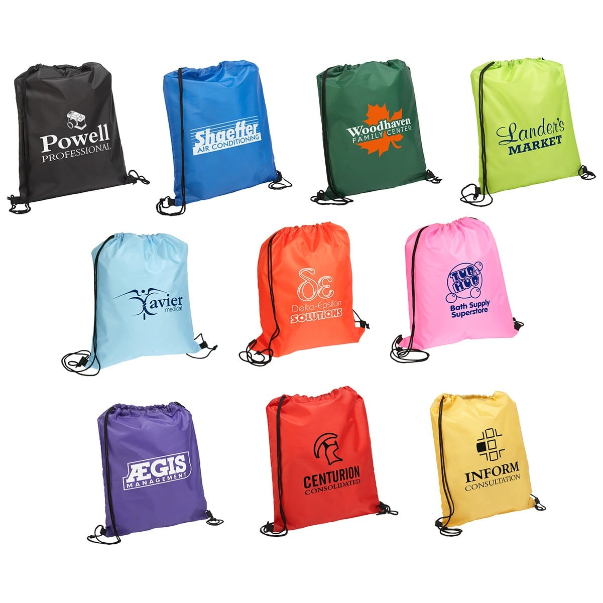 cheap custom printed drawstring bag wholesale