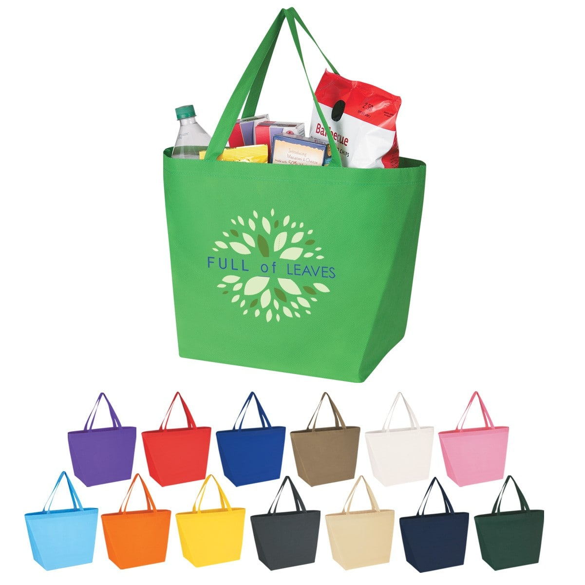 custom printed grocery tote with logo wholesale