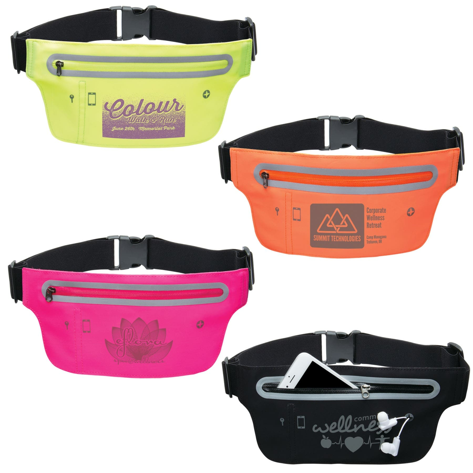 custom printed runner waist belt with logo wholesale
