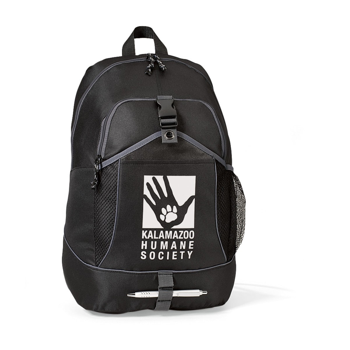 600D custom printed school backpack with logo