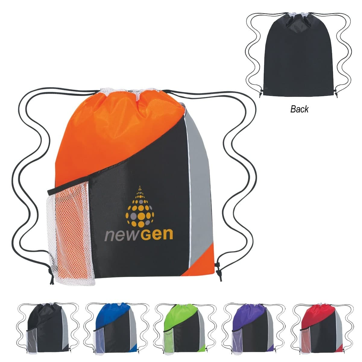 custom printed drawstring bag with logo wholesale