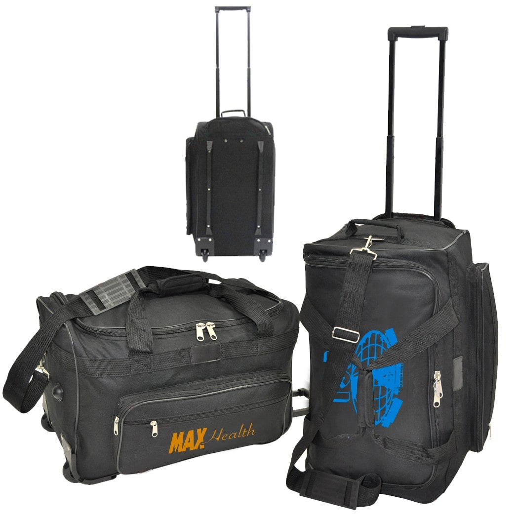 custom printed travel bag suitcase with logo