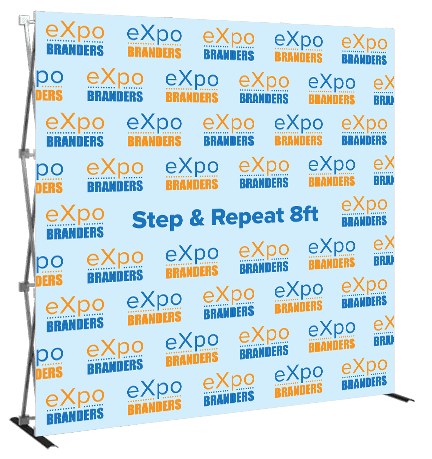 step and repeat 8ft back wall