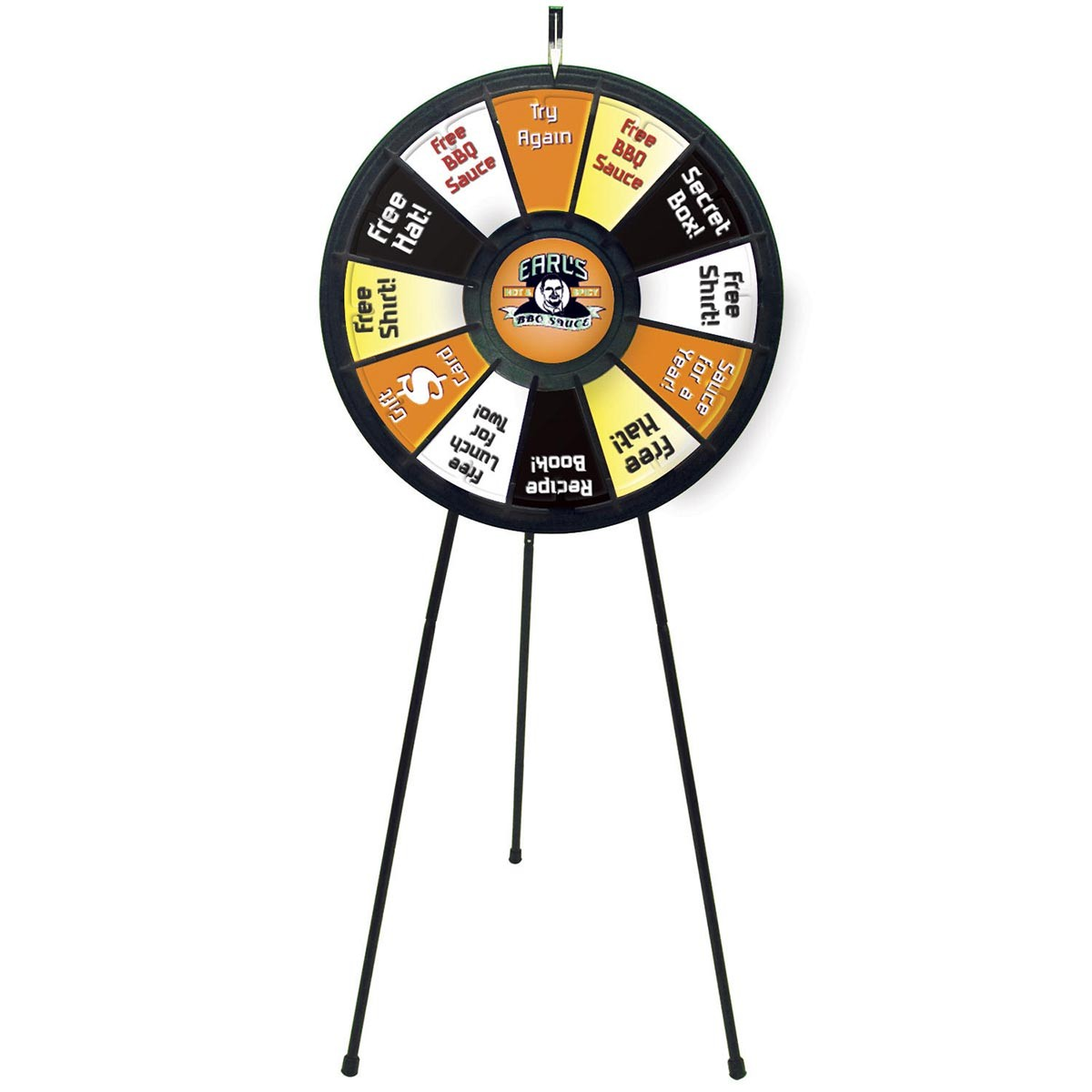 custom printed spin the wheel game