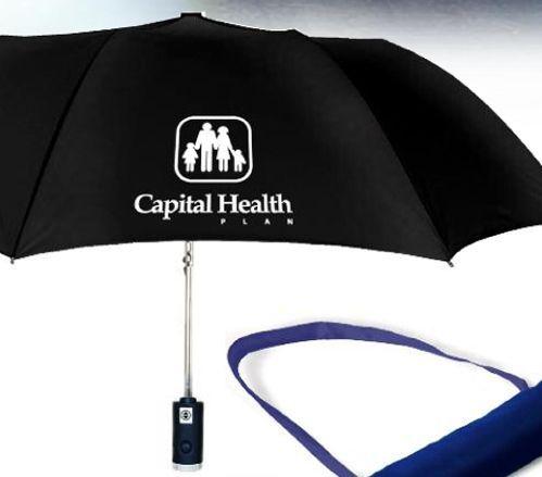 auto open/close flashlight folding umbrella