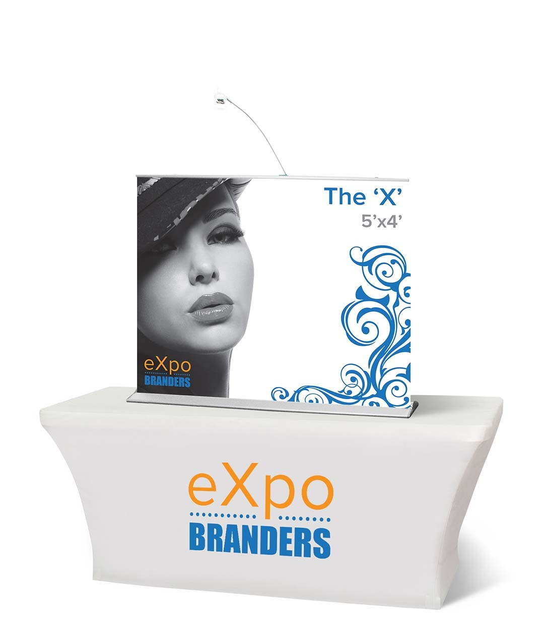 mini retractable table top banner 5x4