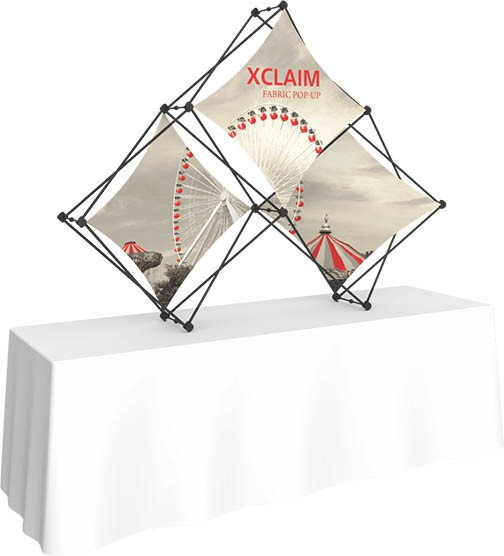 pop up fabric mini table top display