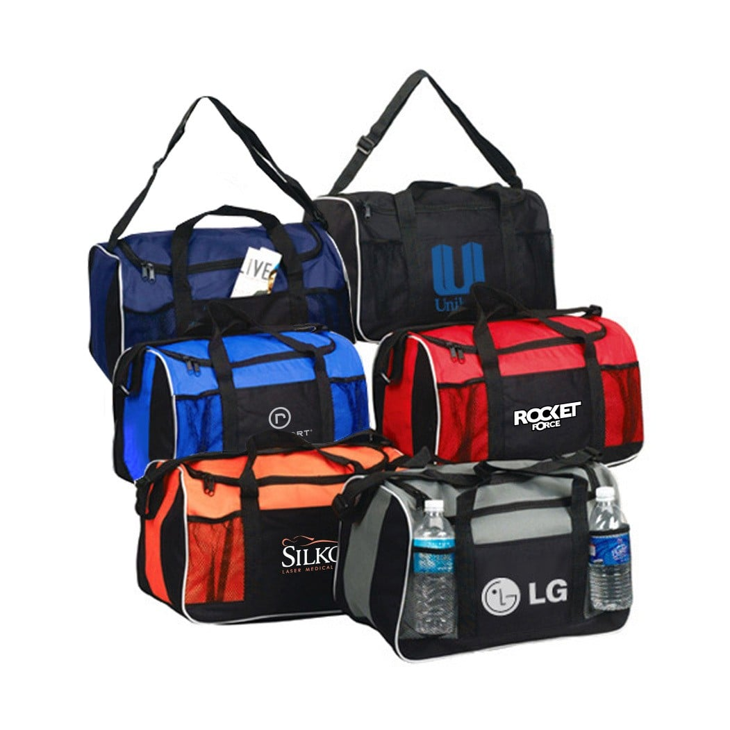 custom printed duffel gym bags with logo wholesale
