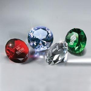 Full-Cut Clear Glass Gemstone (Includes Silver Color-Fill)