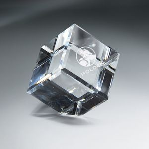 Optic Clear Crystal Cube - Xtra Large