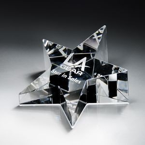 Optic Crystal Star Paperweight