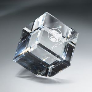 Optic Clear Crystal Cube - XXtra Large